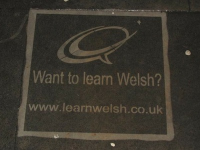 Reverse Graffiti / Clean Advertising in Cardiff
