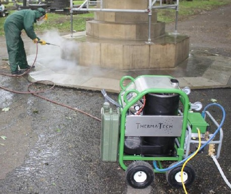 Superheated Water Cleaning Steam Thermatech Doff Stone