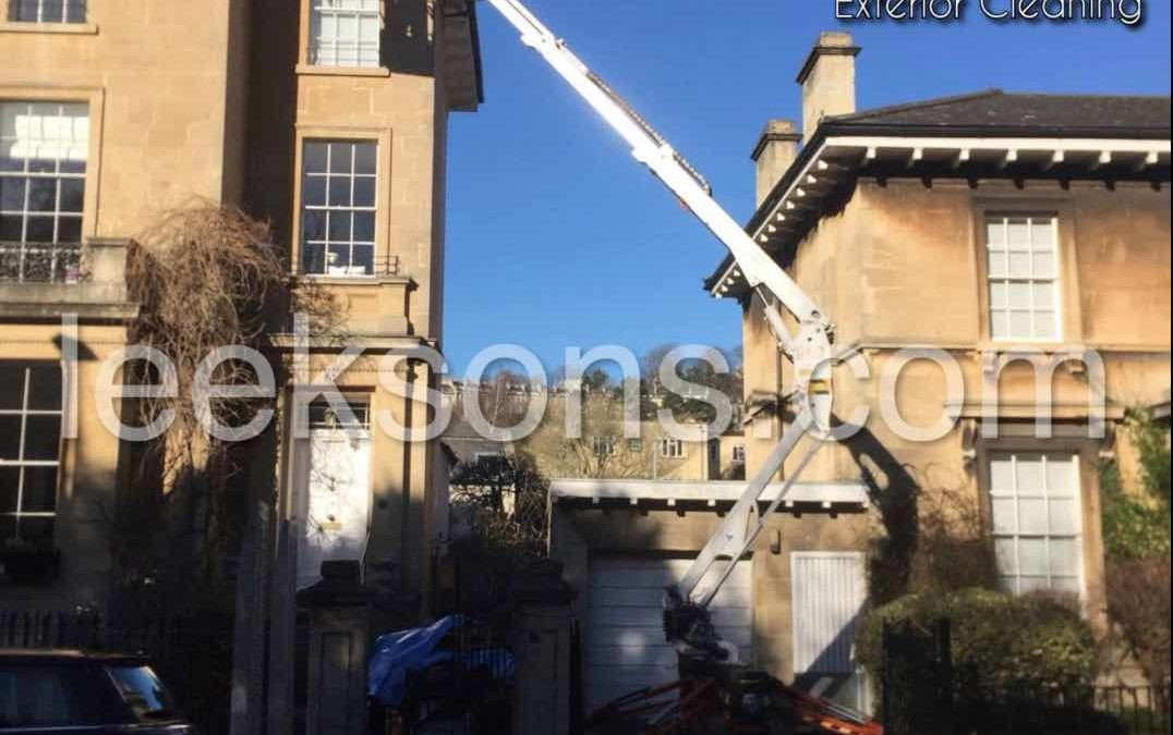 High level gutter cleaning in Bristol and Bath